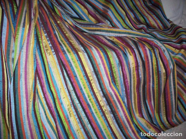 Antigüedades: PRECIOSA COLCHA EN SEDA DE COLORES . ORIGEN MARROQUI - Foto 19 - 201102485