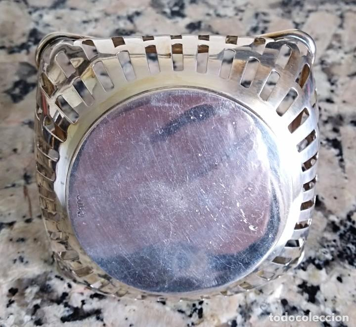 Antigüedades: Canasta de plata de ley siglo xix/XX contrastada - Foto 3 - 201114143