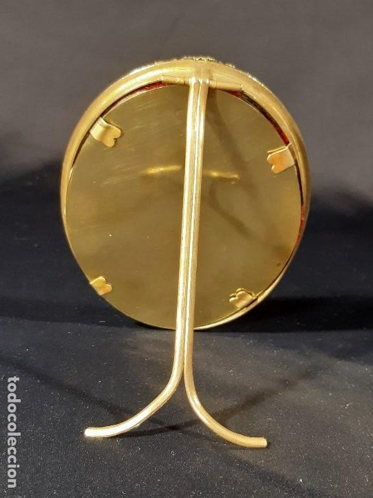 Antigüedades: Marco. Bronce dorado. Ovalado. Francia. Napoleón III. Siglo XIX. - Foto 5 - 201129796