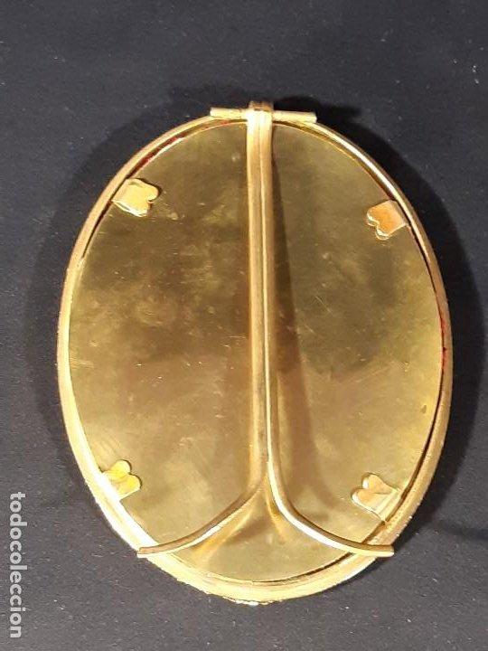 Antigüedades: Marco. Bronce dorado. Ovalado. Francia. Napoleón III. Siglo XIX. - Foto 12 - 201129796
