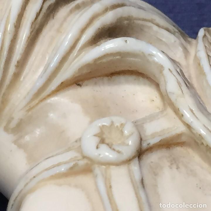 Antigüedades: baston virola plata pomo marfil caballo cabeza calidad ojos vidrio fin s xix ppio s xx 5x11x4cms - Foto 26 - 201164282
