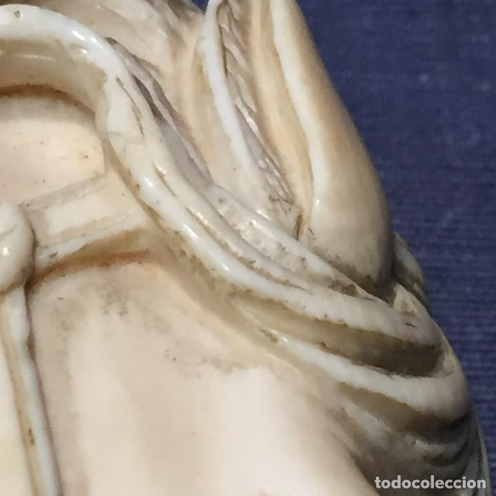 Antigüedades: baston virola plata pomo marfil caballo cabeza calidad ojos vidrio fin s xix ppio s xx 5x11x4cms - Foto 27 - 201164282