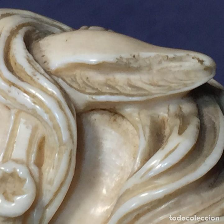 Antigüedades: baston virola plata pomo marfil caballo cabeza calidad ojos vidrio fin s xix ppio s xx 5x11x4cms - Foto 34 - 201164282