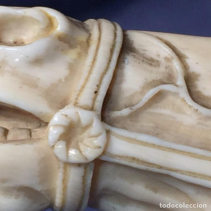 Antigüedades: baston virola plata pomo marfil caballo cabeza calidad ojos vidrio fin s xix ppio s xx 5x11x4cms - Foto 40 - 201164282