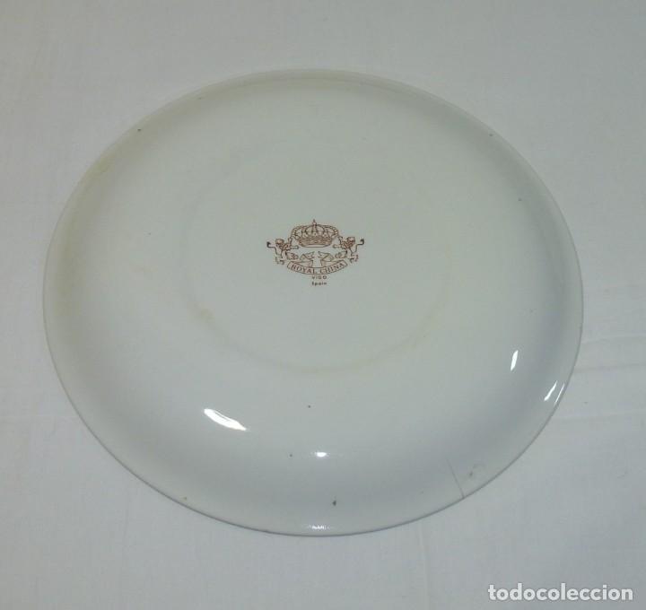 Antigüedades: Plato De Ceramica De La Caja De Ahorros Provincial De Alicante.25 Cm.Royal China Vigo. - Foto 4 - 201172951