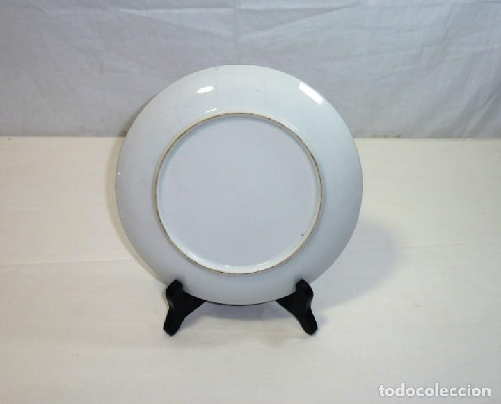 Antigüedades: Plato De Porcelana. Recuerdo De Caldes De Montbui Catalunya.20 cm. - Foto 3 - 201173046