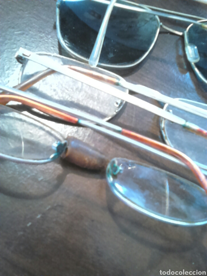 Antigüedades: Lote 5,gafas de ver,una made in italy,frame spain,entre otras - Foto 11 - 201192810