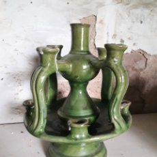 Antiquités: CANDELABRO CERAMICA POPULAR CATALANA AÑOS 70. Lote 201194083