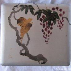 Antigüedades: ANTIGUA CAJA DE LACA JAPONESA. CON MARCA. 20 X 18 X 7 CM. Lote 201217102