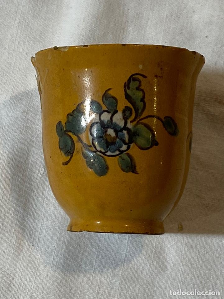 RARA JÍCARA DE ALCORA, S.XIX (Antigüedades - Porcelanas y Cerámicas - Alcora)