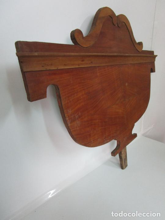Antigüedades: Cabezal de Cama Isabelina - Madera de Caoba - Forma de espiga Central - Principios S. XIX - Foto 9 - 201222526