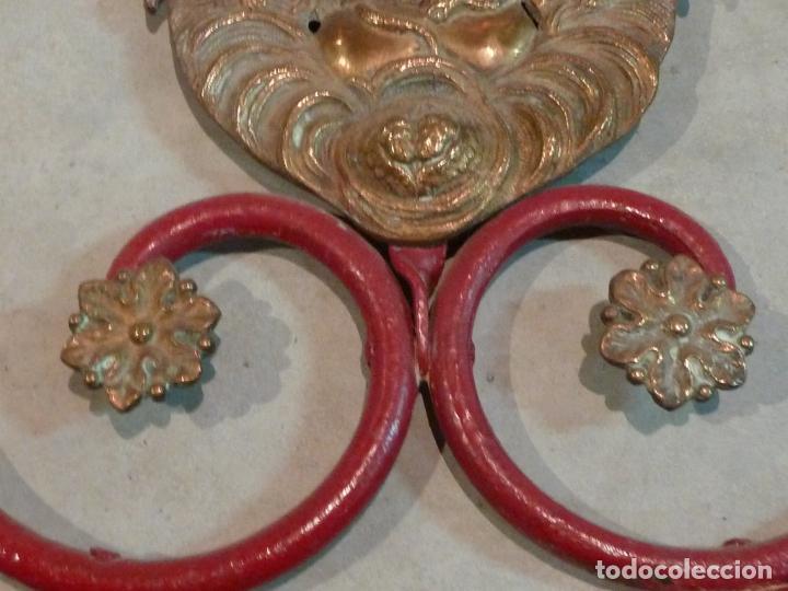 Antigüedades: CABECERO DE CAMA DE MONJA – HIERRO Y LATÓN – Virgen Inmaculada - Foto 9 - 201242748