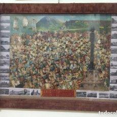 Antigüedades: MARCO DE FF. S. XIX DE TERCIOPELO Y LATÓN CON MAS DE 200 RECORTABLES Y ALGUNAS FOTOS ANTIGUAS.. Lote 201244038