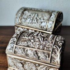 Antigüedades: JOYEROS CAJAS CAPODIMONTE. Lote 201245771