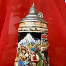 Antigüedades: JARRA DE CERVEZA (EDICION LIMITADA NUMERADA A MANO) AUSTRIA ÖSTERREICH - PORCELANA ESMALTADA 18,5. Lote 201248118