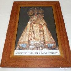 Oggetti Antichi: MARCO DE MADERA CON LAMINA RELIGIOSA MARE DE DEU DELS DESAMPARATS.66.5 X 49.5 CM.. Lote 201261746