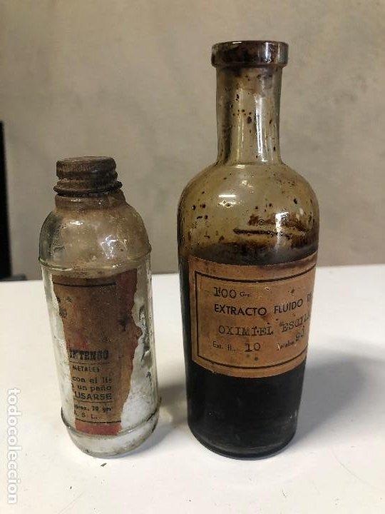 LOTE DE ANTIGUOS FRASCOS DE MEDICAMENTOS (Antigüedades - Cristal y Vidrio - Farmacia )