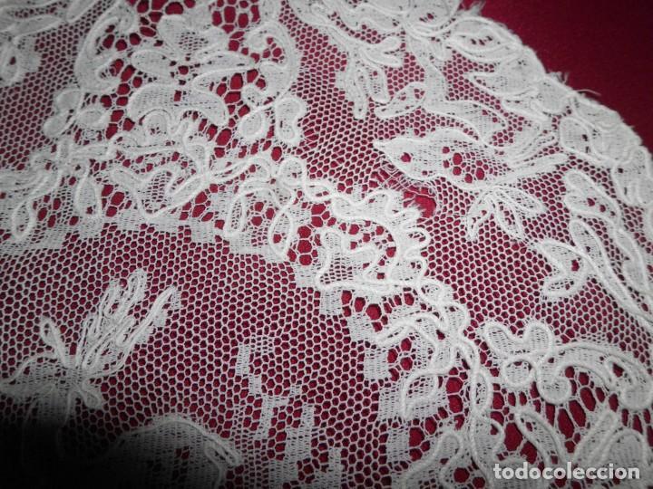 Antigüedades: Antiguo tapete de tul bordado con bobiné - Foto 7 - 201266403