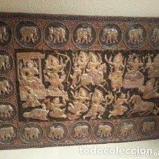 Antigüedades: TAPIZ (KALAGA) BIRMANO-TAILANDÉS S. XX. GRANDES DIMENSIONES. VER FOTOS.NO ENVÍO,RECOGIDA EN ZARAGOZA. Lote 201267117
