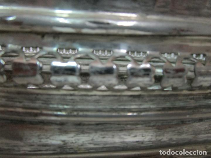 Antigüedades: Curioso Enfriabotellas Plateado - Cubitera, Centro de Mesa - Jardinera en Baño de Plata - Años 20-30 - Foto 5 - 201277153