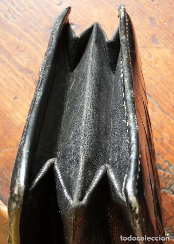 Antigüedades: ANTIGUO Y PRECIOSO BOLSO - H&B - ÉPOCA VICTORIANA - S.XIX - PÁJAROS - PIEL REPUJADA - NUMERADO - Foto 21 - 201288952