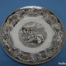 Antigüedades: PLATO EN PORCELANA CARTAGENA. Lote 201294921