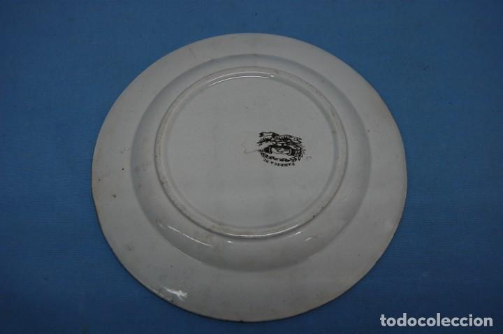 Antigüedades: PLATO EN PORCELANA CARTAGENA - Foto 2 - 201294921