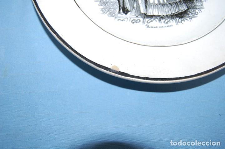 Antigüedades: PLATO EN PORCELANA CARTAGENA - Foto 2 - 201295321