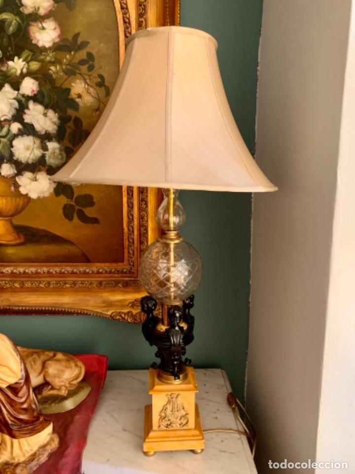 SOBERBIA LÁMPARA ANTIGUA (Antigüedades - Iluminación - Lámparas Antiguas)