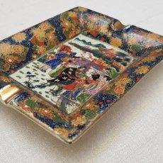 Antigüedades: CENICERO CERAMICA CON MOTIVO CHINO. Lote 201311680