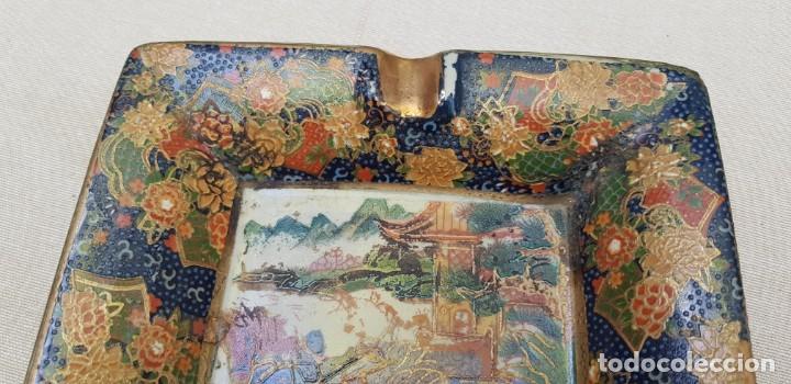 Antigüedades: CENICERO CERAMICA CON MOTIVO CHINO - Foto 2 - 201311680