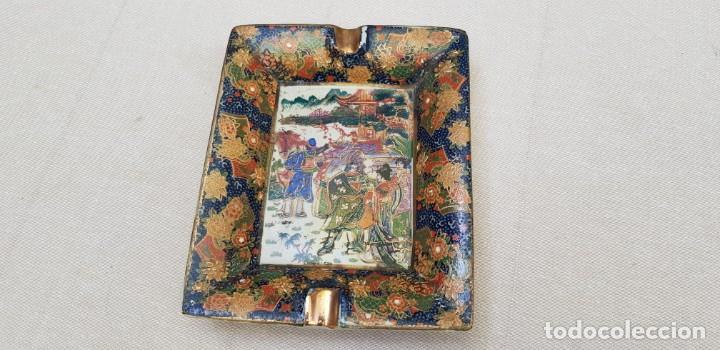 Antigüedades: CENICERO CERAMICA CON MOTIVO CHINO - Foto 4 - 201311680