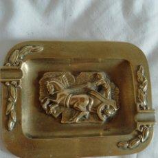 Antigüedades: CENICERO BRONCE. Lote 201312747