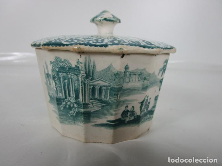 Antigüedades: Preciosa Azucarera - Loza - Real Fábrica de Pickman - S. XIX - Foto 2 - 201317095