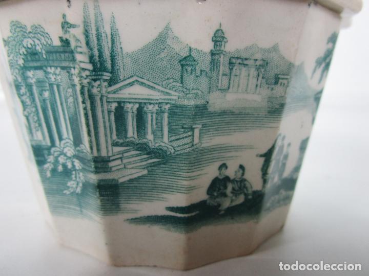 Antigüedades: Preciosa Azucarera - Loza - Real Fábrica de Pickman - S. XIX - Foto 3 - 201317095