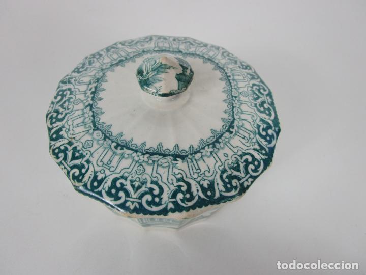 Antigüedades: Preciosa Azucarera - Loza - Real Fábrica de Pickman - S. XIX - Foto 4 - 201317095
