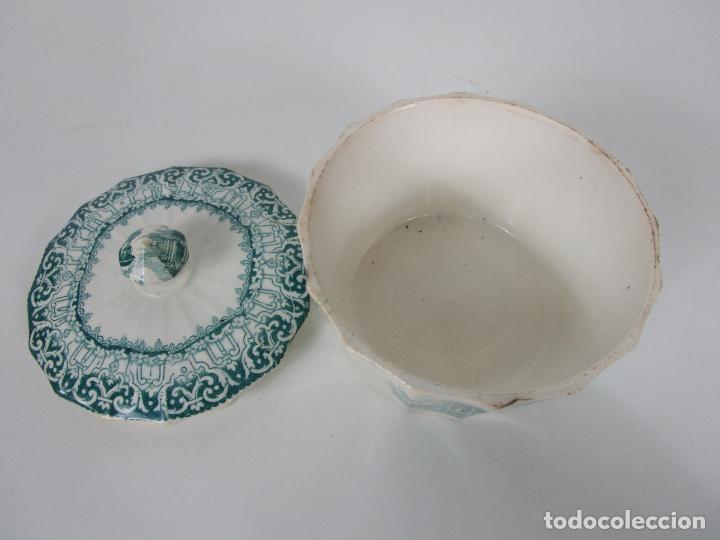 Antigüedades: Preciosa Azucarera - Loza - Real Fábrica de Pickman - S. XIX - Foto 7 - 201317095