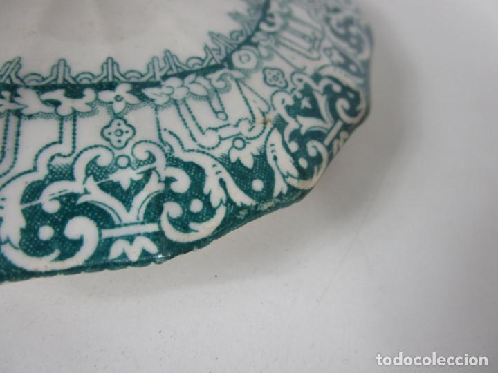Antigüedades: Preciosa Azucarera - Loza - Real Fábrica de Pickman - S. XIX - Foto 10 - 201317095