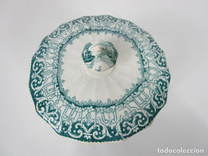 Antigüedades: Preciosa Azucarera - Loza - Real Fábrica de Pickman - S. XIX - Foto 14 - 201317095