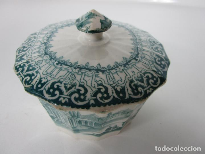 Antigüedades: Preciosa Azucarera - Loza - Real Fábrica de Pickman - S. XIX - Foto 16 - 201317095