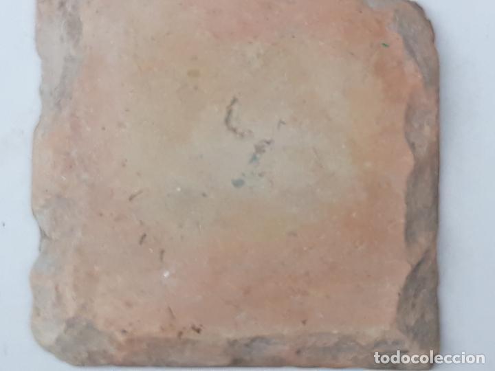 Antigüedades: AZULEJO ANTIGUO DE TOLEDO - SIGLO XVI - ARISTA O CUENCA - RENACIMIENTO - CATALOGADO. - Foto 5 - 201323860