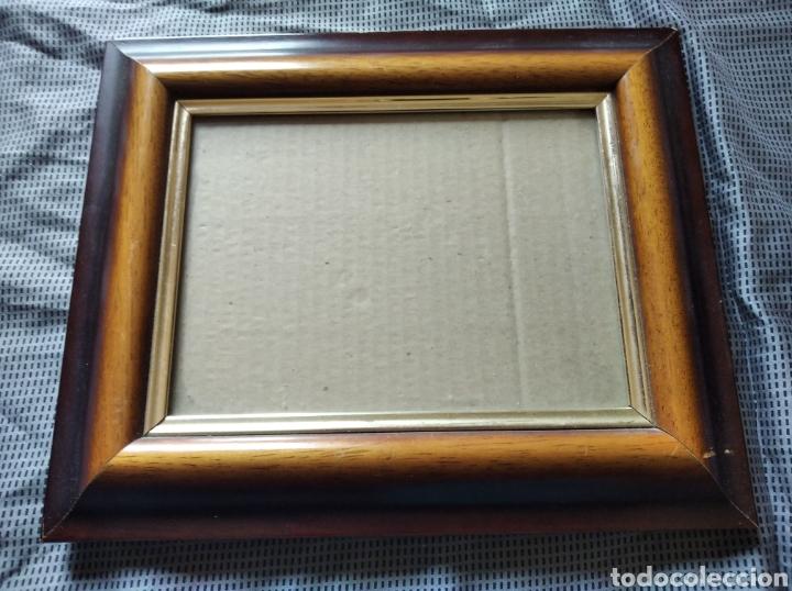 Antigüedades: Marco portafotos vintage madera medida interior 18 x 14 cm marco 5 cm - Foto 4 - 201334438