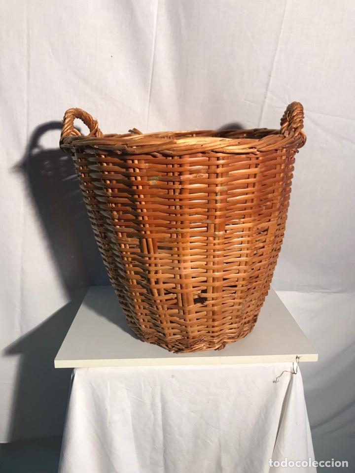 GRAN CESTA ANTIGUA (Antigüedades - Técnicas - Rústicas - Agricultura)
