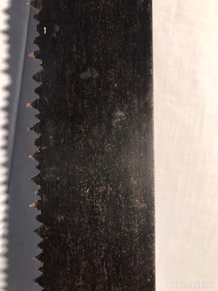 Antigüedades: Antigua gran sierra de dos manos 135cm - Foto 3 - 201340708