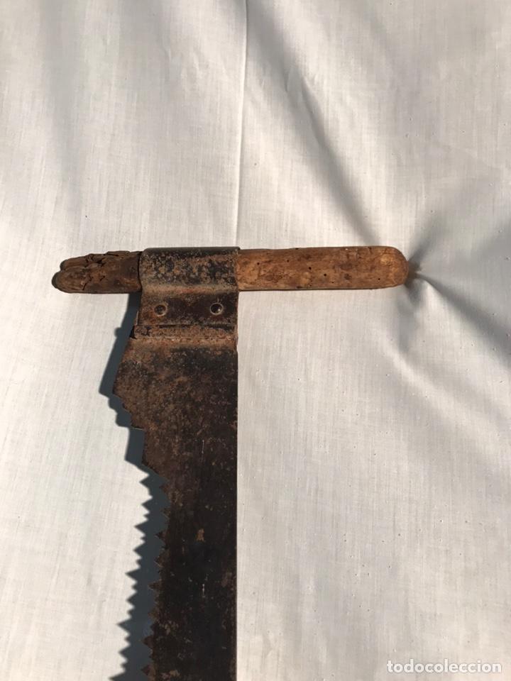 Antigüedades: Antigua gran sierra de dos manos 135cm - Foto 4 - 201340708