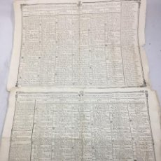 Antigüedades: CALENDARIO PARA EL OBISPADO DE CADIZ, 1830, CON DATOS ASTRONÓMICOS Y RELIGIOSOS DE IMPORTANCIA.. Lote 201356545
