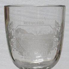 Antigüedades: COPA DE VIDRIO. RECUERDO DE ALICANTE. GRAN TAMAÑO. Lote 201357285