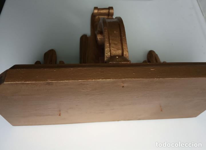 Antigüedades: ménsula de madera tallada con pan de oro - Foto 2 - 201468776