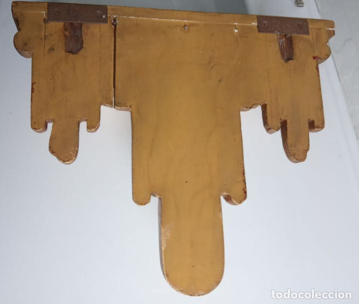 Antigüedades: ménsula de madera tallada con pan de oro - Foto 3 - 201468776