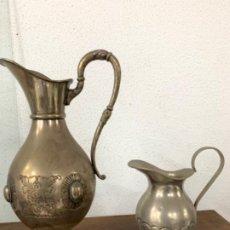 Antiquités: ANTIGÜEDADES JARRAS METAL PLATEADO. Lote 201469482